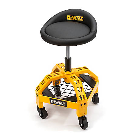 DeWALT DXSTAH025 Adjustable Creeper Shop Stool with Casters, 41562
