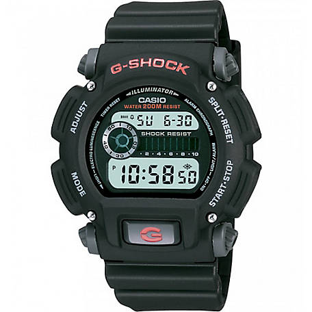 G SHOCK Digital-200M Wr-Red Accents, DW9052-1V