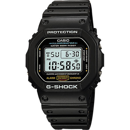 G SHOCK Digital-Black/Red, DW5600E-1V