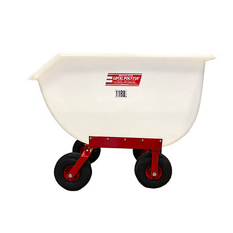 Loyal 11 Bu. Loyal Polytuf Feed Cart Air Tires, P11A-4W