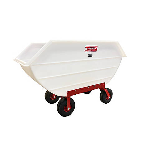 Loyal 20 Bu. Loyal Polytuf Feed Cart Air Tires, P20A-4W