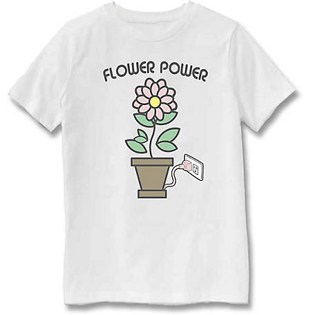 Farm Fed Clothing Boys' Youth Short Sleeve Tee, Flower Power, TSC0980
