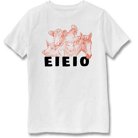 Farm Fed Clothing Boys' Youth Short Sleeve Tee Eieio TSC0982