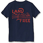 Farm Fed Clothing Boys' Youth Short Sleeve Tee Land Of The Free TSC0984