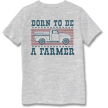 Farm Fed Clothing Boys' Youth Short Sleeve Tee Born To Be TSC0989