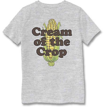 Farm Fed Clothing Boys' Youth Short Sleeve Tee Cream Of The Crop TSC1009