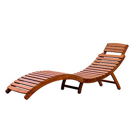 northbeam Curved Folding Chaise Lounger, CLN0170110000