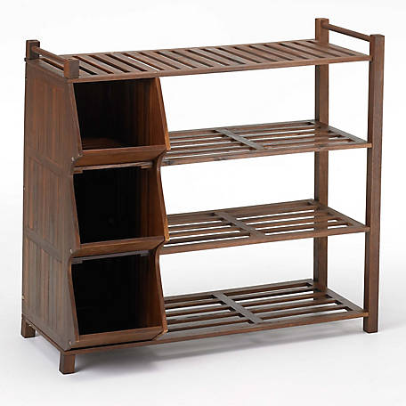 northbeam 4-Tier Outdoor Shoe Rack Cubby SLF0020110000