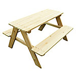 turtleplay Wooden Kids Picnic Table, TB0020000010