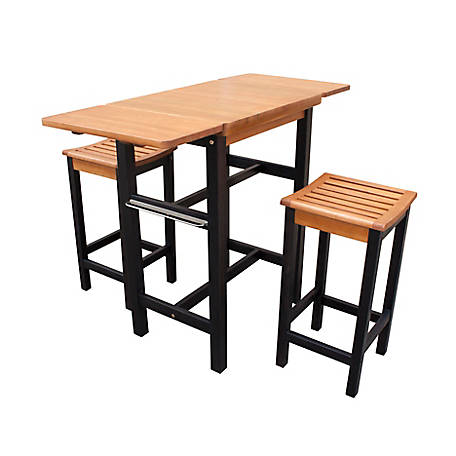 northbeam Kitchen Island Table Two Stool Set, TBS0330213300