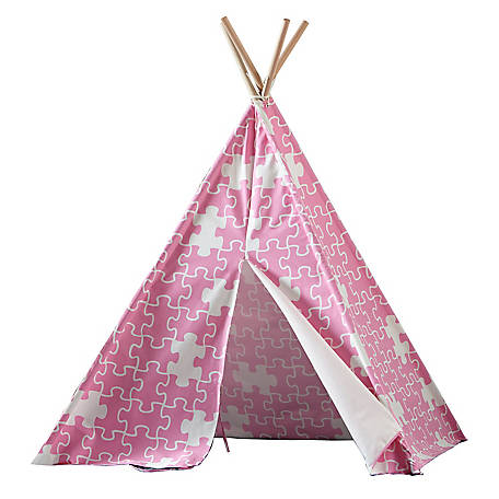 turtleplay Children's Teepee Pink Puzzle, TPE0090213110
