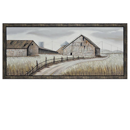 Crestview Collection Dusty Road Framed Hand Painted Canvas CVTOP2383