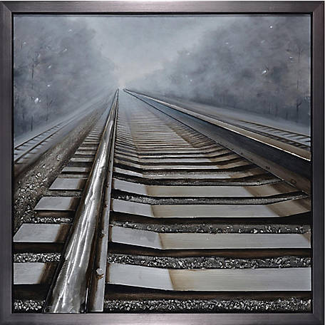 Crestview Collection Shining Way Framed Hand Painted Canvas CVTOP2172