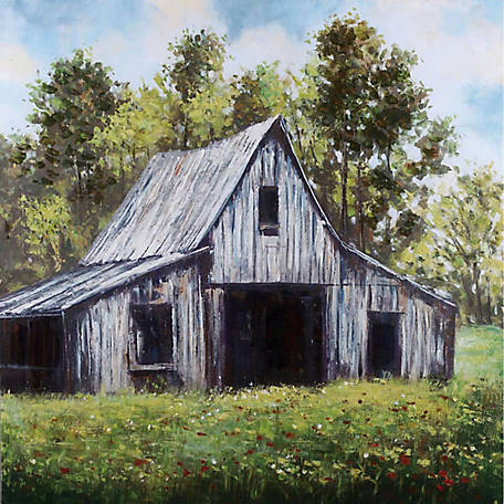 Crestview Collection Barn Hand Painted Wall Art 40 x 40 in. CVTOP2260