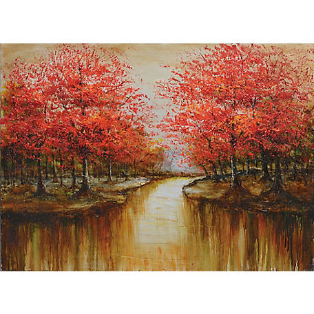 Crestview Collection Red Divide Wall Art 48 x 36 in. CVTOP1990
