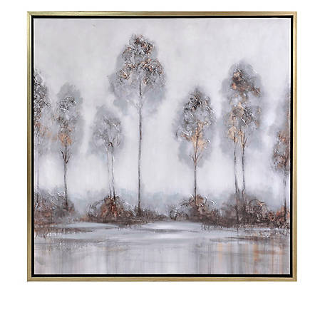Crestview Collection Misty Hand Painted Can 39.4 x 39.4 in. CVTOP2475
