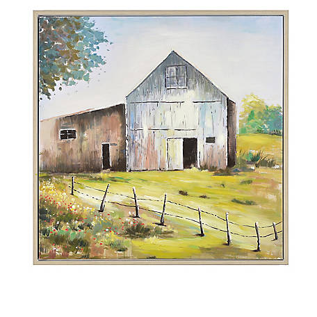 Crestview Collection Harvest Time Framed Hand Painted Canvas CVTOP2381