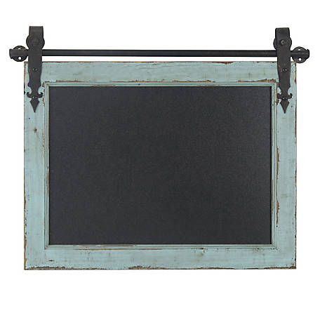 Crestview Collection Wooden Barn Door Chalk Board 22 x 1 x 17.5 in. CVTWA1460