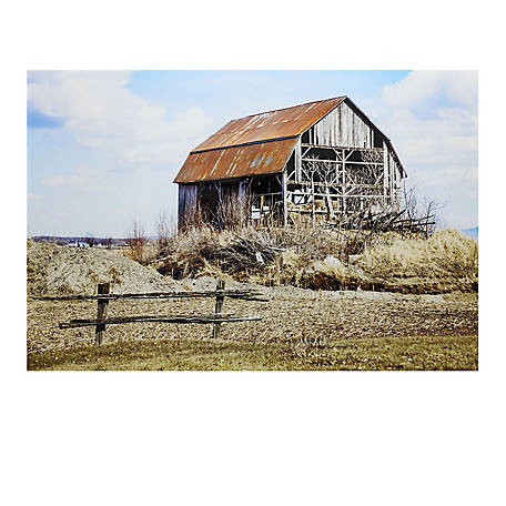 Crestview Collection Hey Barn Tempered Glass Wall Art CVTOP2457