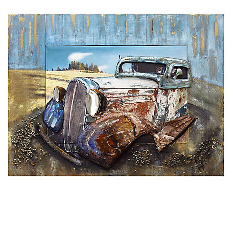 Crestview Collection Remembered Hand Painted Wooden Wall Art CVTOP2539