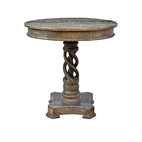 Crestview Collection Bengal Mango Wood Twist Accent Table, CVFNR602