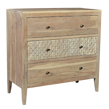 Crestview Collection Bengal Mango Wood Blonde Finish Chest, CVFNR608