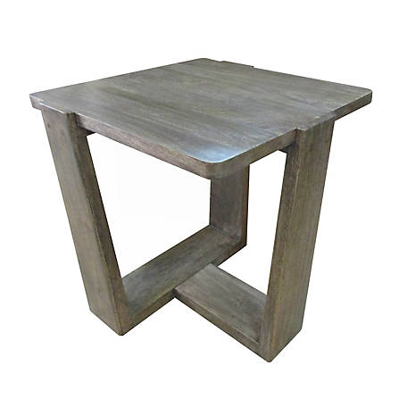 Crestview Collection Bengal Mango Wood Tri Leg Sq End Table, CVFNR665
