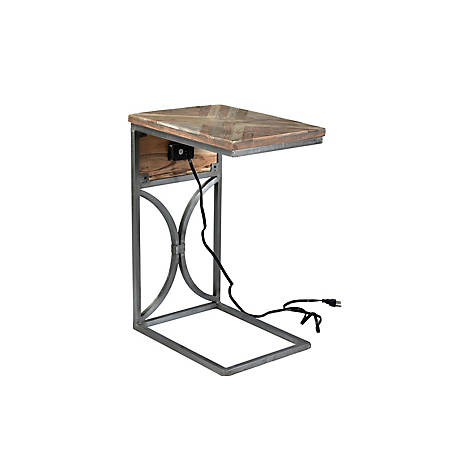 Crestview Collection Bengal Manor Side Table with Usb Power, CVFNR730