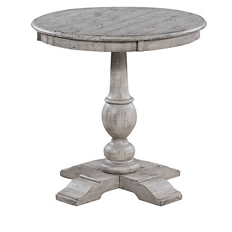 Crestview Collection Pembroke Plantation Wht Round Accent Tbl, CVFVR8039