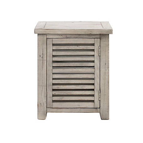 Crestview Collection Pembroke Hudson Slated End Table, CVFVR8128