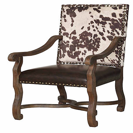 Crestview Collection Mesquite Ranch Faux Cowhide Armchair, CVFZR1791