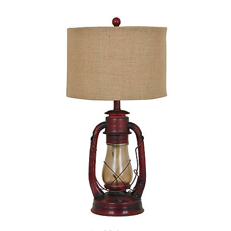 Crestview Collection Lauren Table Lamp 28 Ht Rust Red Finish, CVABS965
