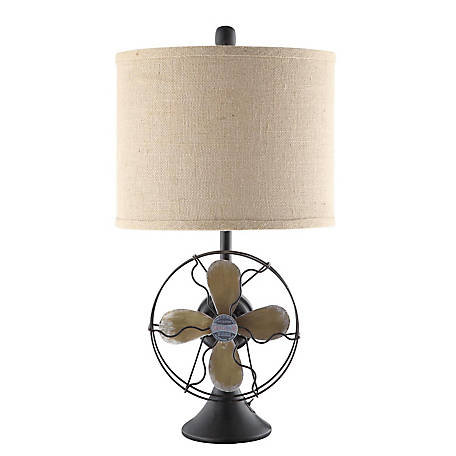 Crestview Collection Antique Fan Table Lamp 24.5 in Ht., CVAER718