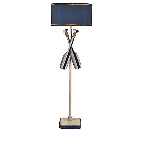 Crestview Collection Boat Oar Floor Lamp In Nautical Blue, CVAVP1423
