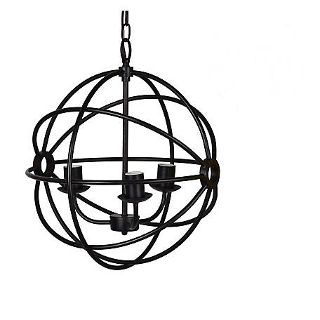 Crestview Collection Global Pendant Metal Oil Bronze Finish, CVAER977