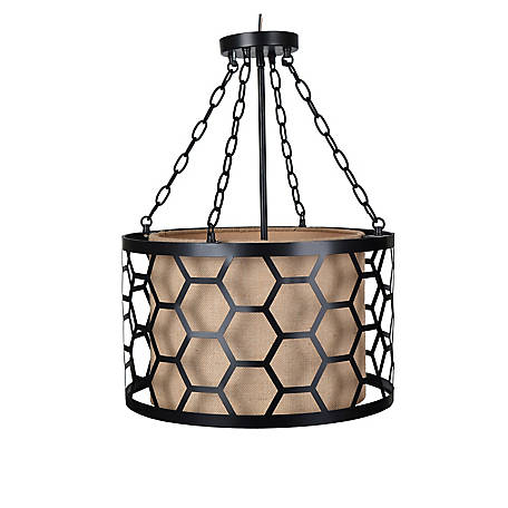Crestview Collection Flynn Pendant Metal Oil Bronze Finish, CVAER993