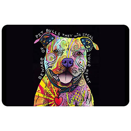 bungalow Flooring Pitbull Heart Dog 23 x 36 Mat, 20718242336