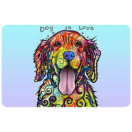 bungalow Flooring Dog Is Love Dog 23 x 36 Mat, 20718302336