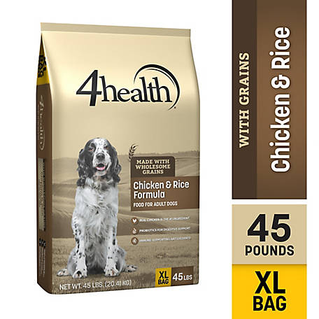 4health Original Original Chicken & Rice Formula Adult Dog Food. 45 lb. Bag
