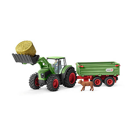 Schleich Farm World, Tractor with Trailer Toy Figure, 42379
