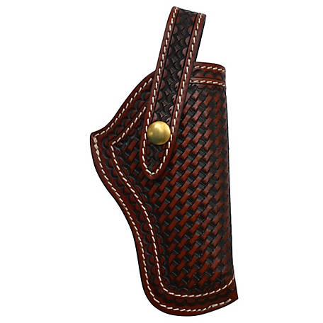 3D Belt Basket Weave Revolver Holster Brown, DHOL102