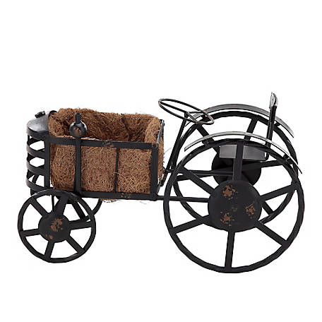 Red Shed Black Iron Tractor Planter