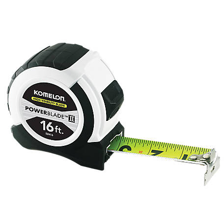 Komelon 16 ft. Powerblade II Tape Measure 52416, 52416