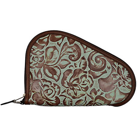 3D Belt Vintage Brown/Turquoise Gun Case Small, DPI307