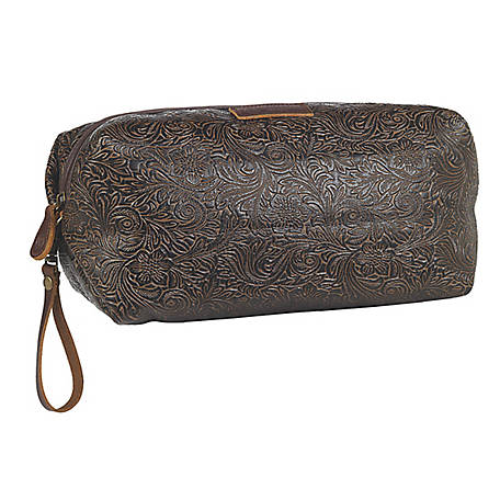 3D Belt Tooled Shaving Kit Bag Brown DOT23762DT