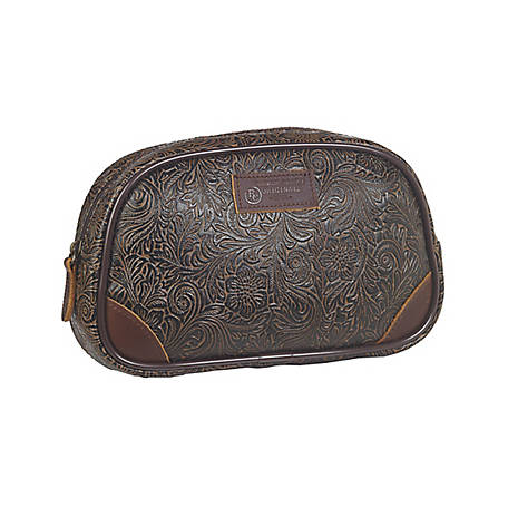 3D Belt Tooled Rounded Travel Bag Large Brown DOT23761CT-L