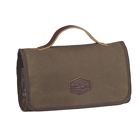 3D Belt Canvas Tri-Fold Toiletry Bag Tan DOT23778