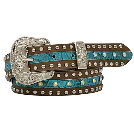 3D Belt Girls Studded Turquoise Inlay, DA5232