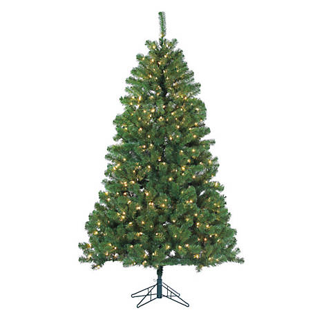 Sterling Tree Company 7 Ft Pre Lit Montana Pine Christmas Tree With 500 Clear Incandescent Lights 5759 70c At Tractor Supply Co