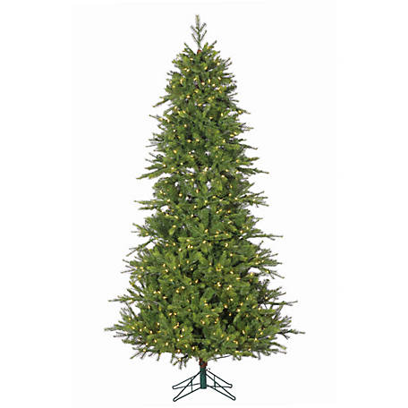 Sterling Tree Company 7.5 ft. Pre-Lit Shasta Pine Tree with Instant Glow Power Pole and 750 LED Lights, 6359--75C